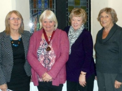 Our committee:  Tio White, Vivien Hoey, Jan Lowe and Lorna Henry (cropped)